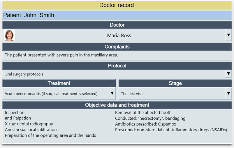 Importing the Protocol into the Record by the Doctor